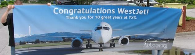 westjet banner ad poster